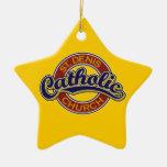 Azul de la iglesia católica de St Denis en rojo Adorno De Reyes