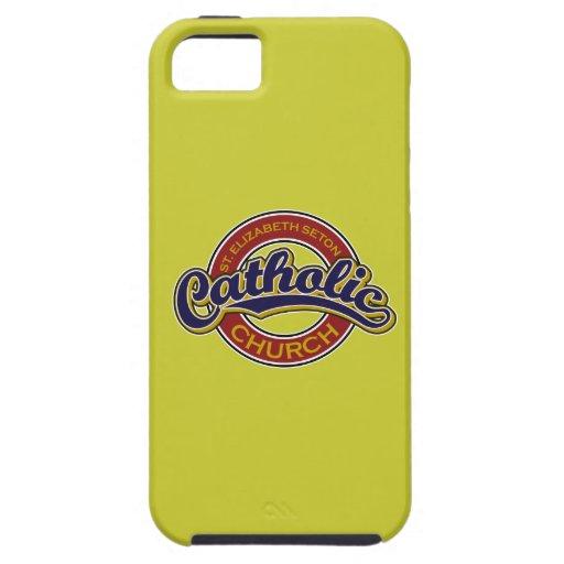 Azul de la iglesia católica del St. Elizabeth Seto iPhone 5 Coberturas