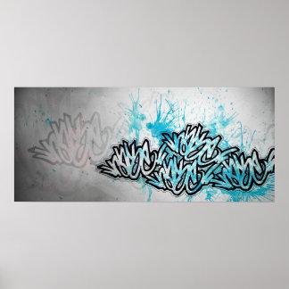 Azul de la impresión de Rase Póster