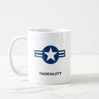 Azul de la ingeniosidad de los E.E.U.U. Tazas De Café