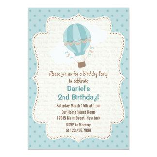 Azul de la invitación de la fiesta de cumpleaños