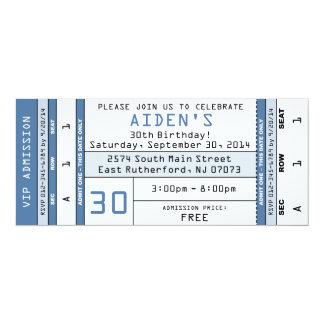 Azul de la invitación del boleto del concierto