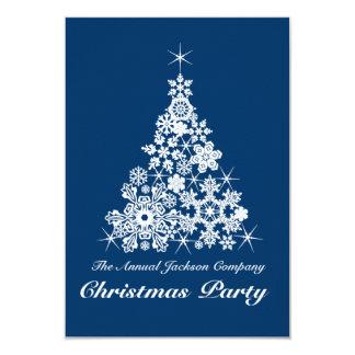 Azul de la invitación del fiesta del árbol del invitación 8,9 x 12,7 cm