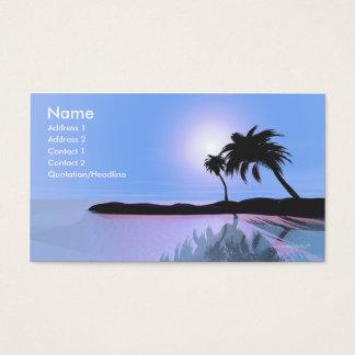 Azul de la isla - tamaño del negocio tarjetas de visita