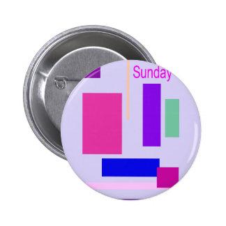 Azul de la lavanda de domingo pin redondo 5 cm