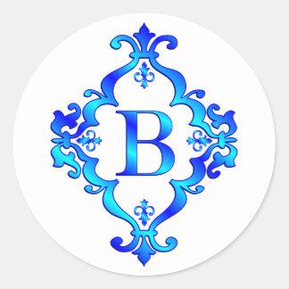 Azul de la letra B Pegatinas