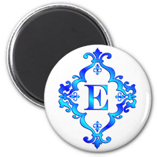 Azul de la letra E Imanes