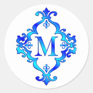 Azul de la letra M Pegatina