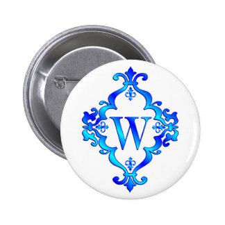 Azul de la letra W Pins