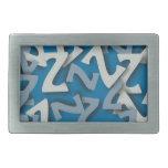 Azul de la letra Z Hebillas Cinturon