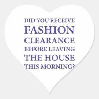 Azul de la liquidación de la moda pegatina en forma de corazón