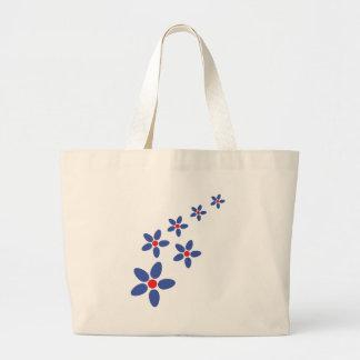 azul de la lluvia de la flor bolsas