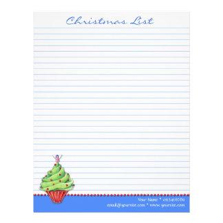 Azul de la magdalena del árbol de navidad para hac plantillas de membrete