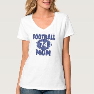 Azul de la mamá del fútbol playera
