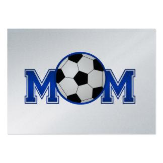 Azul de la mamá del fútbol tarjetas de visita