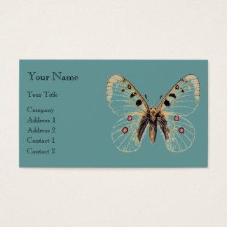 Azul de la mariposa tarjeta de negocios
