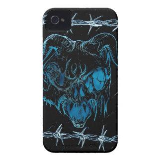 Azul de la máscara de muerte para la zarzamora iPhone 4 Case-Mate carcasas