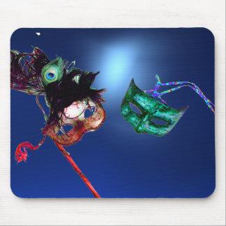 Azul de la MASCARADA del CARNAVAL Mousepads