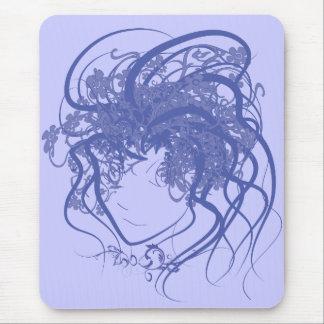Azul de la medusa de la hiedra mousepads