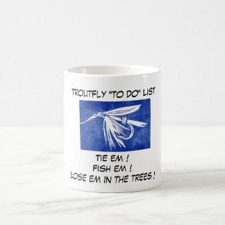 """Azul de la mosca mojada - taza de la lista de la"