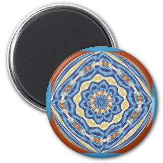 Azul de la muestra del maleficio imán de frigorifico