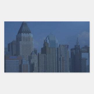 azul de la noche de Nueva York Rectangular Altavoz