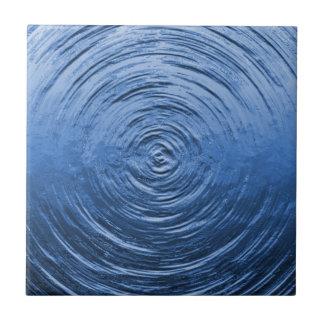 Azul de la ondulación del agua tejas