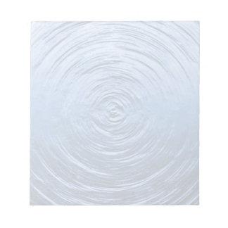 Azul de la ondulación del agua bloc de notas