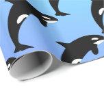 Azul de la orca de la orca papel de regalo