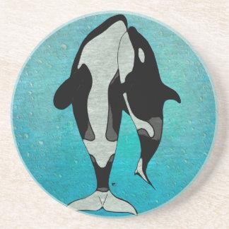 Azul de la orca posavasos manualidades