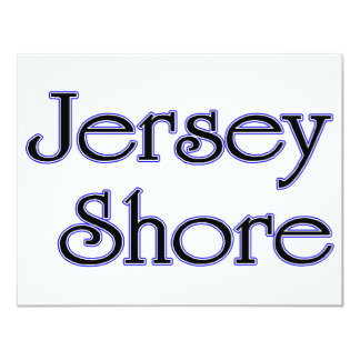 """Azul de la orilla del jersey invitación 4.25"""" x 5.5"""""""