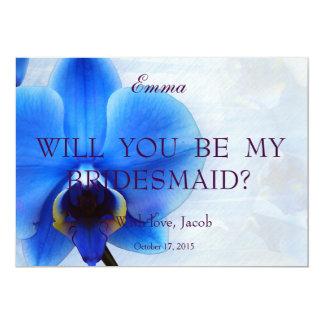 Azul de la orquídea usted será mi invitación de la