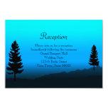 Azul de la oscuridad de la montaña de la tarjeta invitación 8,9 x 12,7 cm