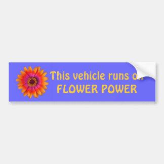 azul de la pegatina para el parachoques del flower pegatina de parachoque