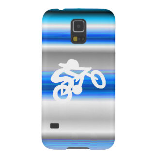 Azul de la pendiente del jinete de la bici carcasa galaxy s5