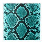 Azul de la piel de la serpiente de la serpiente de teja  ceramica