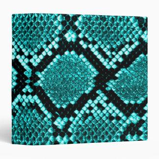"""Azul de la piel de la serpiente de la serpiente de carpeta 1 1/2"""""""