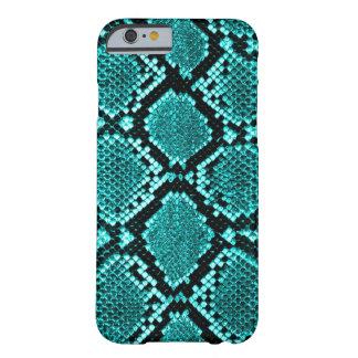 Azul de la piel de la serpiente de la serpiente de funda de iPhone 6 barely there