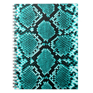 Azul de la piel de la serpiente de la serpiente de notebook