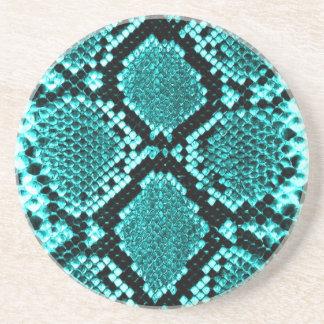 Azul de la piel de la serpiente de la serpiente de posavasos manualidades