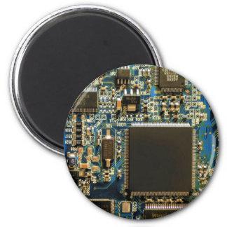 Azul de la placa de circuito de la impulsión dura  imán de nevera