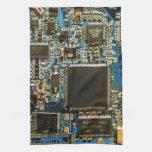 Azul de la placa de circuito de la impulsión dura  toallas de mano