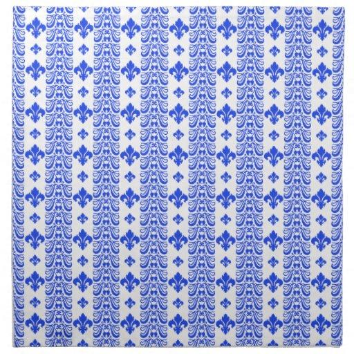 Azul de la raya 1 de Fleur Servilletas De Papel