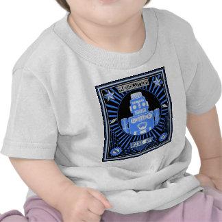 Azul de la rebelión del robot camiseta