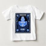Azul de la rebelión del robot playeras