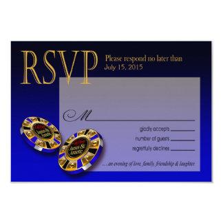Azul de la respuesta el | de Las Vegas VIP RSVP Invitación 8,9 X 12,7 Cm