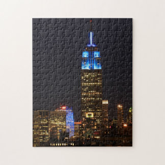 Azul de la roca del Empire State Building 30 para Rompecabezas
