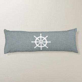 Azul de la rueda de la nave cojin cama