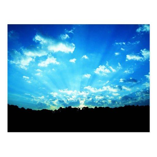 Azul de la salida del sol de Virginia Occidental Tarjeta Postal
