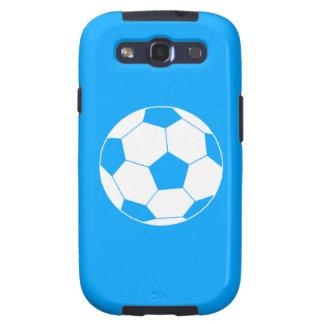 Azul de la silueta del balón de fútbol de la galax galaxy s3 protector